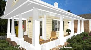 small house plans with wrap around porches 3d images for chp sg 1132 aa small brick 3d house plan views