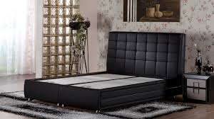 Queen Size Platform Bed Marsilya Platform Bed W Headboard Queen Size Escudo Black By Sunset