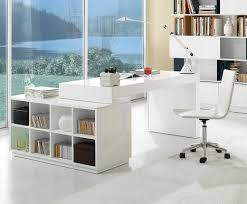 Modern Home Office Desks Interior Modern Home Office Desk With Built In Bookcase White S