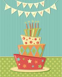 new happy birthday bunting crazy fun cake print shalece elynne art