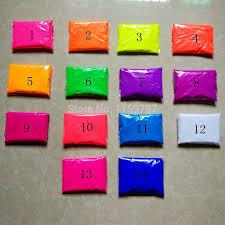 wholesale mixed colors 10g color fluorescent powder pigment for