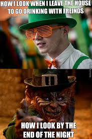 Funny St Patrick Day Meme - before after drinking on st patrick s day by allranger meme center