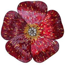 Flower Wall Decor River Of Goods Red 22 Inch Mosaic Glass Flower Wall Decor Free