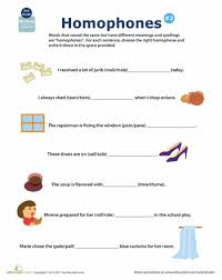 5th grade homophone worksheets for 5th grade printable