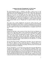 Council Of Ephesus 431 Articles From Journals Monophysitism Response Pdf Council Of Chalcedon Coptic