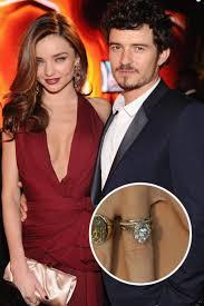 engagement rings orlando miranda kerr and orlando bloom the supermodel flashes dazzling