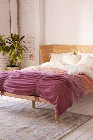 Urban Outfitters Ruffle Duvet Dip Dye Cinched Duvet Cover Urban Outfitters