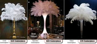 feather centerpieces feathercenterpieces event rentals bellmore ny weddingwire