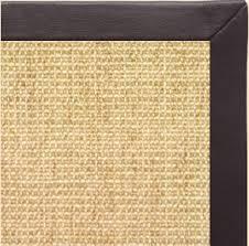 Straw Rug Ikea Sustainable Lifestyles Sand Sisal Rug With Black Leather Border