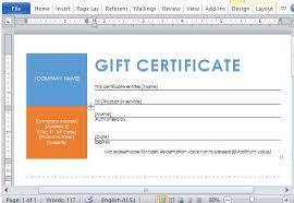 gift certificate template powerpoint certificates office free