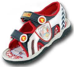 buy boys fireman sam cartoon character casual sandal shoe 61414
