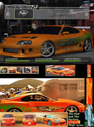 fast and furious 1 cars cars need for speed underground 2 skin mods