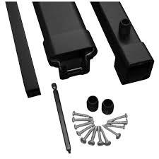 moistureshield pro 8 ft black aluminum hand rail and bottom rail