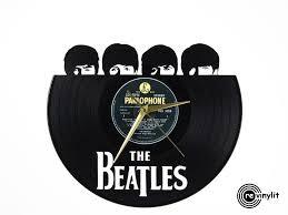 beatles home decor the beatles clock hard day u0027s night vinyl record clock by