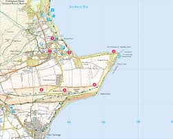 Dorset England Map by Studland Village To Old Harry Print Walk South West Coast Path