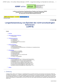 PDF Longterm administration of opioids for non tumor pain LONTS