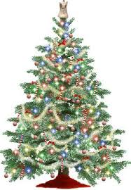 clip picture of a sparkling tree with an on top