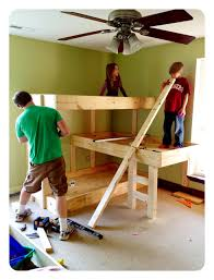 Plans For Triple Bunk Beds by Diy Space Saving Triple Bunk Bed Free Plan Tutorial