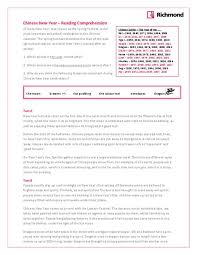 all worksheets chinese new year reading comprehension worksheets