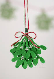meet me the felt mistletoe hang in place of the real thing