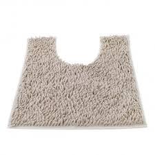 Shaggy Bathroom Rugs Contour Bath Rug Soft Shaggy U Shaped Toilet Floor Mat Bathroom