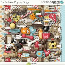 Dog Scrapbook Album Digital Scrapbook Kit Fur Babies Puppy Dogs Kristin Aagard