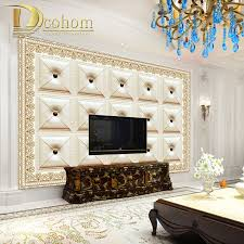 simple wall murals promotion shop for promotional simple wall custom 3d mural wallpaper for living room bedroom vivid leather pattern simple style photo wall mural