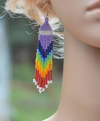 Handmade Seed Beaded Gold Plated 41 Best Handmade Porcupine Quill Seed Bead Earrings Seed Beads