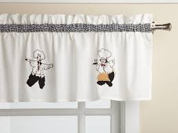amazon com cheers chef insert valance only window treatment