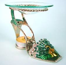 Tea Light Oil Warmer Peacock High Heel Shoe Tea Light Fragrance Oil Warmer