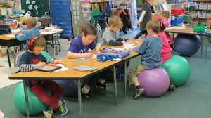 most davidson elementary students now use stability balls for
