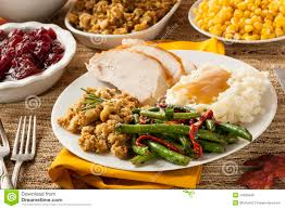 turkey thanksgiving dinner royalty free stock image