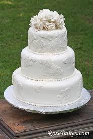 lace wedding cakes vintage lace wedding cake with sugar roses