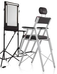 portable makeup chair with side table slipcover for dining chairs slipcover dining chairs french
