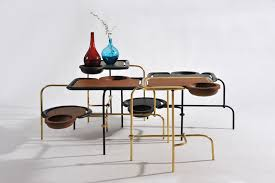 Coffee Table Uses by Apiwat Chitapanya U0027s Compound Table Uses Intersecting Elements
