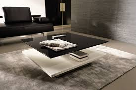 coffee table black glass top coffee table white and black