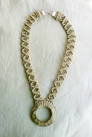 hemp necklace pendants images Hemp macrame necklace with a coconut shell pendant jpg
