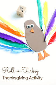 roll a turkey thanksgiving activity fantastic learning