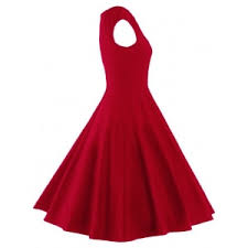 dress photo m a line puffer cap sleep plain dress rosegal