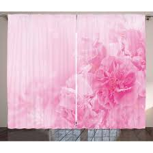 Petal Pink Curtains Pink Curtains 2 Panels Set Flowers Up View Florets