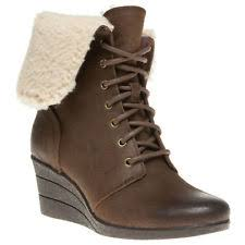 s ugg australia brown emalie boots ugg australia wedge ankle 100 leather shoes for ebay