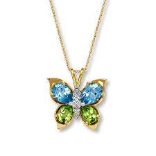 necklace with topaz images Jared butterfly necklace peridot blue topaz 10k yellow gold jpg