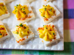 deviled egg dish square deviled eggs recipe food network kitchen food network