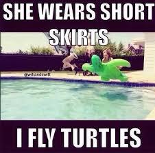 Funny Short Memes - funny ninja memes she wears short skirts i fly turtles photos