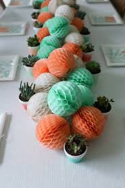 coral baby shower a mint and coral party