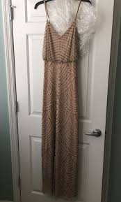adrianna papell art deco beaded blouson gown size 2