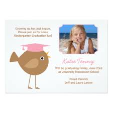kindergarten graduation invitations preschool graduation invitations announcements zazzle