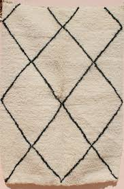 Berber Throw Rugs Small Beni Ourain Rug 3x5 Moroccan Rug Black And White Berber