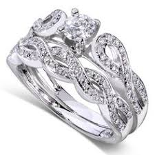 overstock bridal sets annello 14k gold 1 2ct tdw diamond braided bridal rings set h i