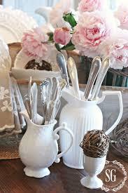 white dishes farmhouse style